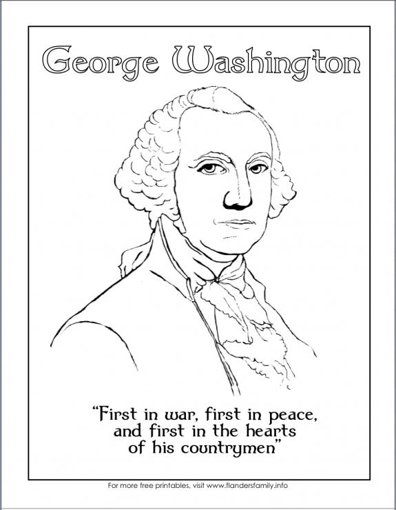 Free printables for George Washington's Birthday from www.flandersfamily.info