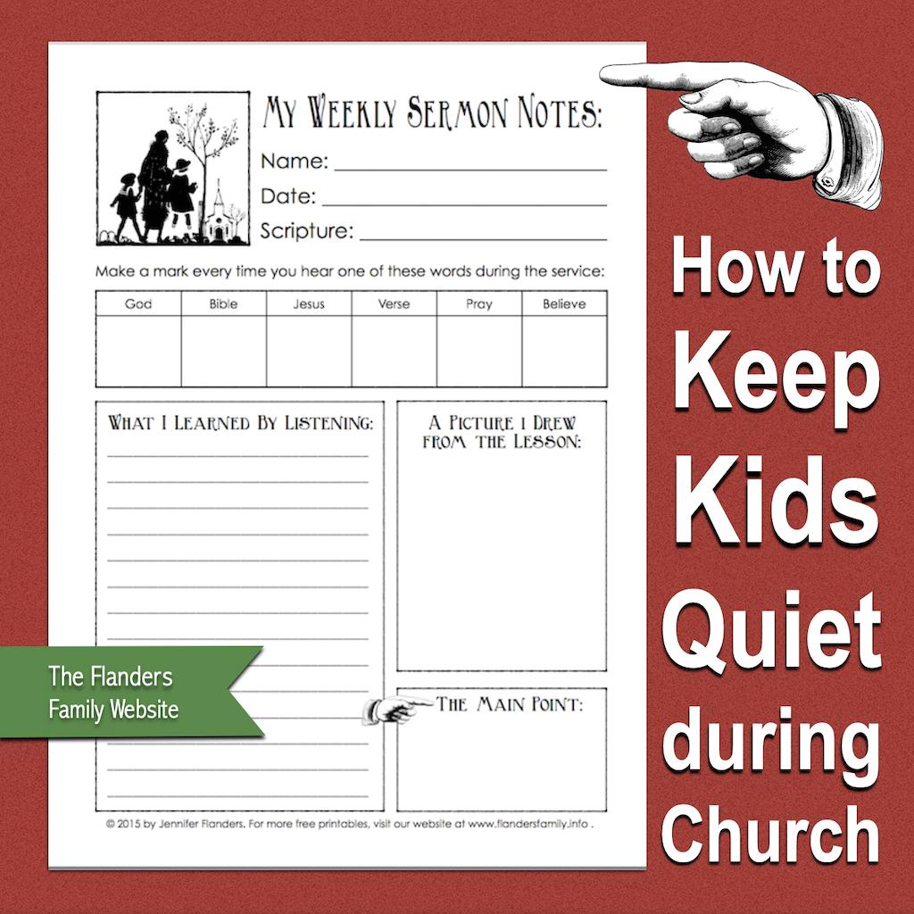 Keep Kids Quiet during Church