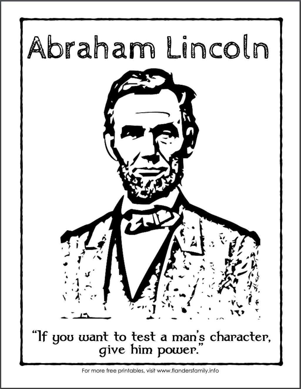 Lincoln Quote on Character