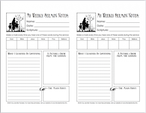 Free printables to encourage children to listen in church