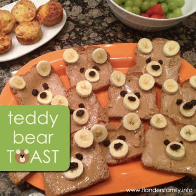 Teddy Bear Toast for Breakfast