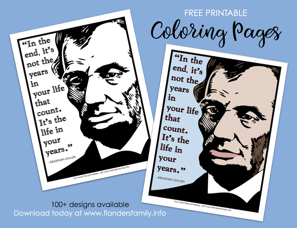 Lincoln Quote Coloring Page
