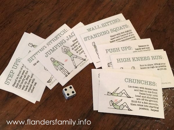 "Free printable ""Stop, Drop, and Roll"" cards for exercise game for kids..."