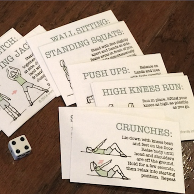 Stop, Drop, and Roll (Free Printable Fitness Game)