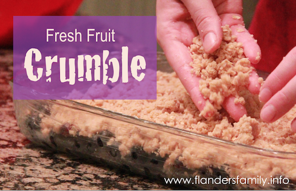 Fresh Fruit Crumble