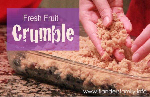 Fresh Fruit Crumble