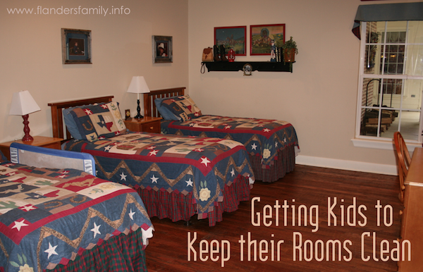 Getting Kids to Keep their Rooms Clean - 4 strategies that really work from www.flandersfamily.info
