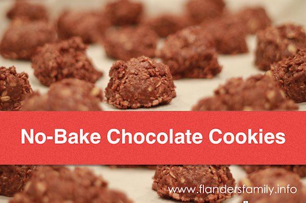 No-Bake Chocolate Cookies