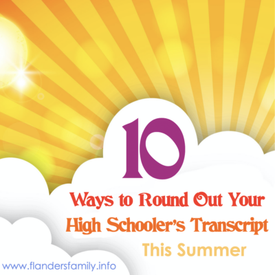 10 Ways to Round Out Your Teen's Transcript