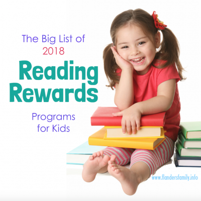 2018 Reading Reward Programs
