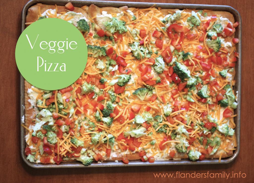 Cool & Crisp Veggie Pizza