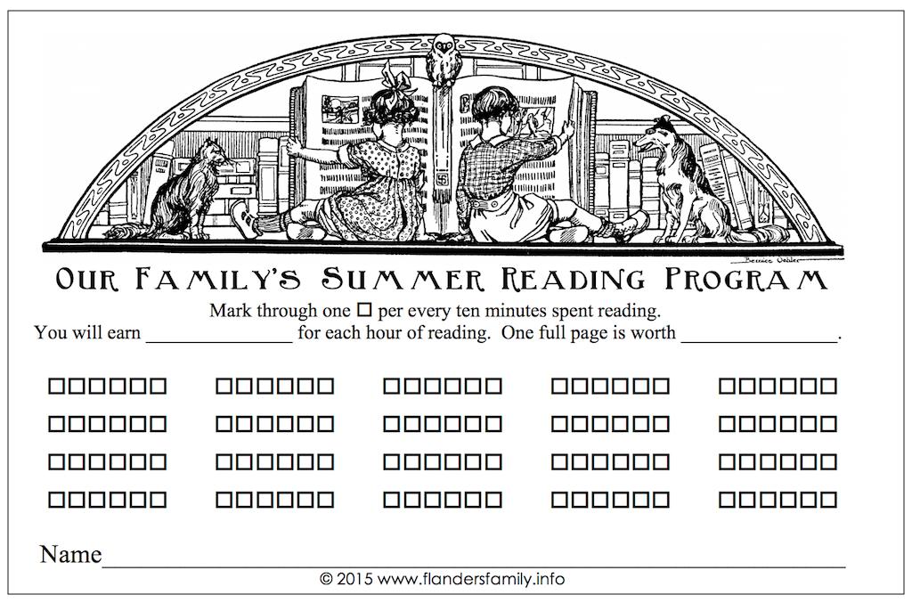 Free Printable Reading Log