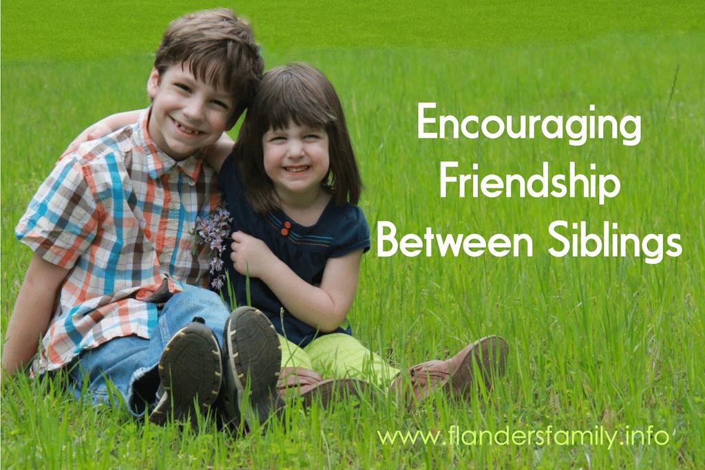 Cultivating Friendship between Siblings