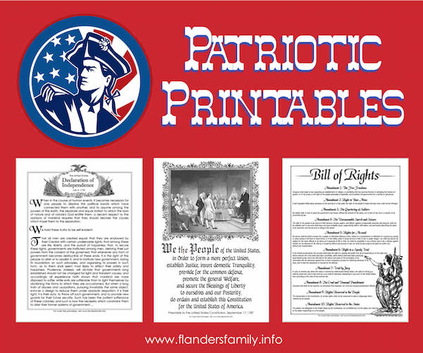 Free Patriotic Printables (Historical Documents)