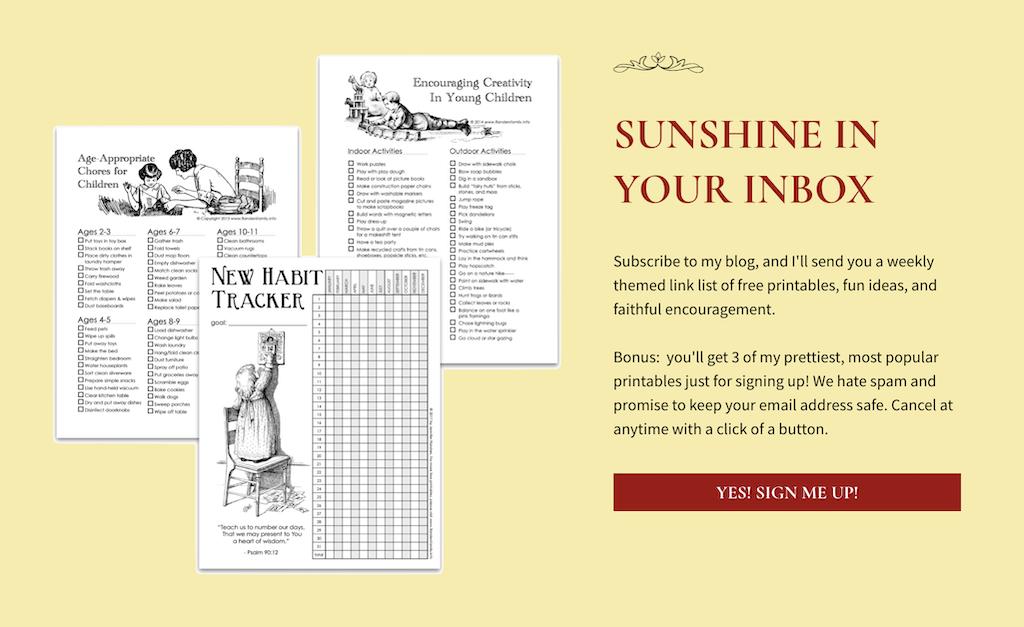 Sunshine in Your Inbox