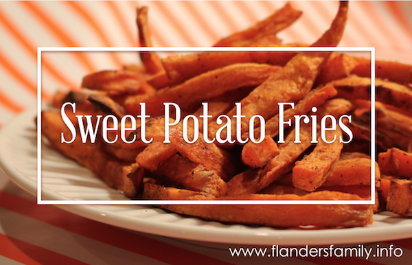 Slightly Addictive Sweet Potato Fries