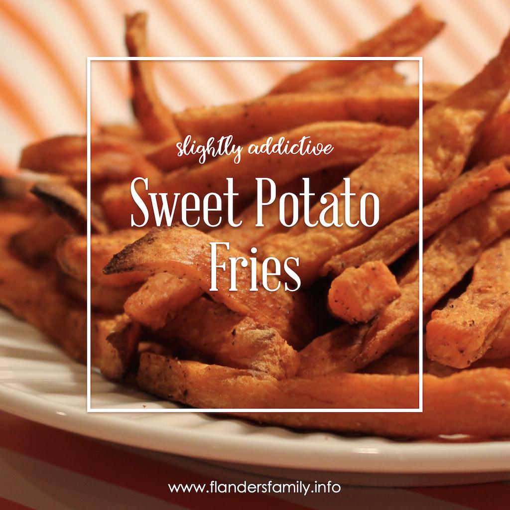 Slightly Addictive Sweet Potato Fries