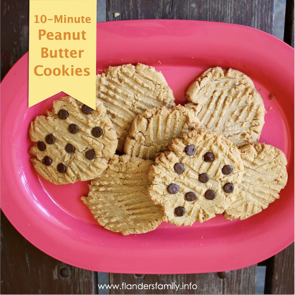 10-Minute Peanut Butter Cookies