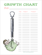 Free printable growth charts for children from www.flandersfamily.info