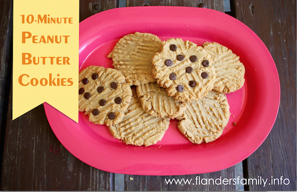 10-Minute Peanut Butter Cookies