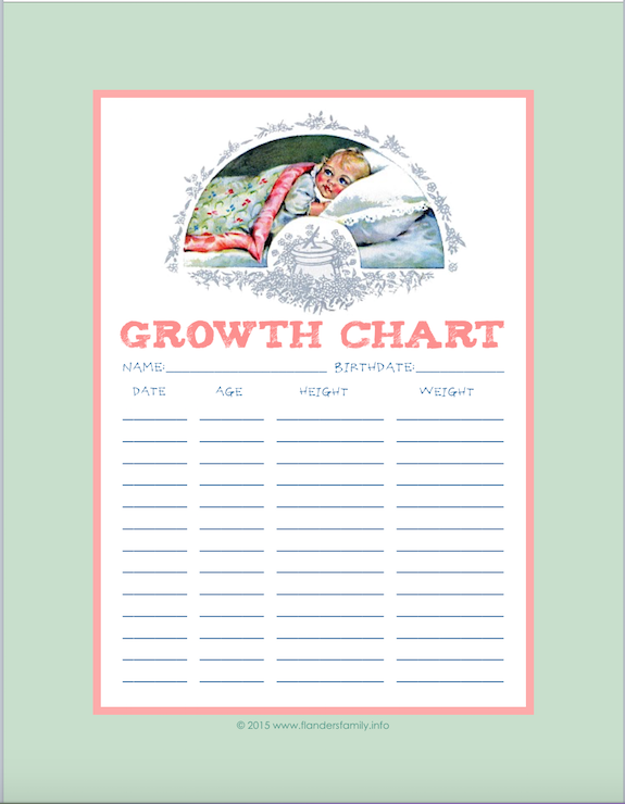 Children's Growth Charts {Free Printable}