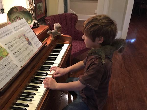 Gabriel at Piano