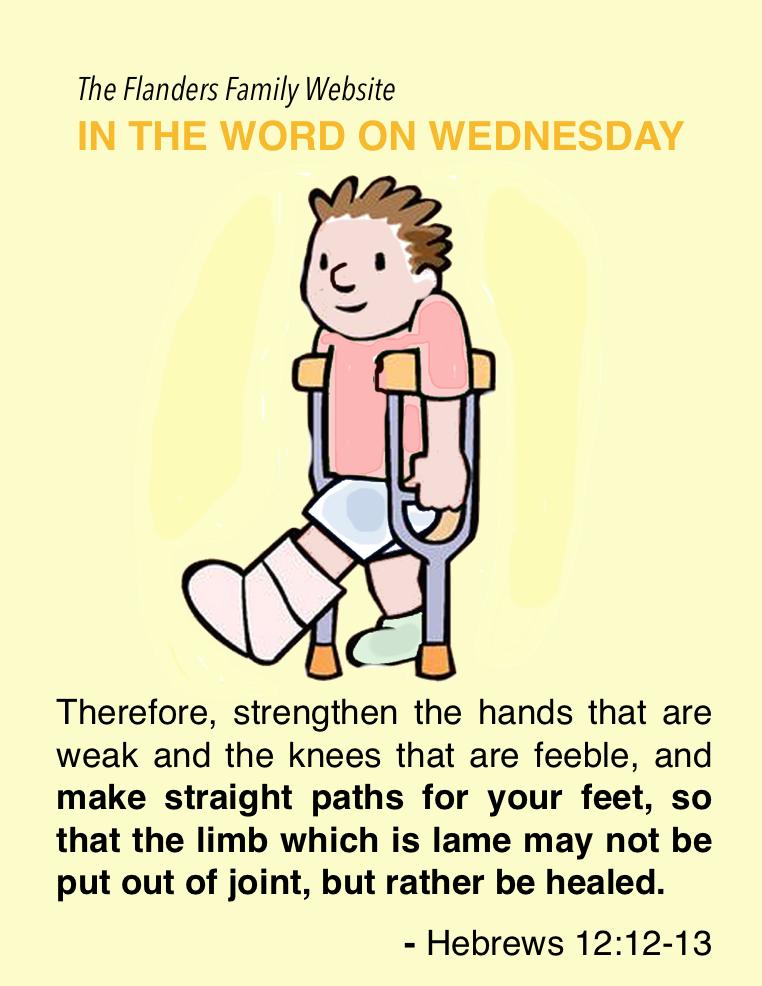 Word on Wednesday: Hebrews 12:12-13
