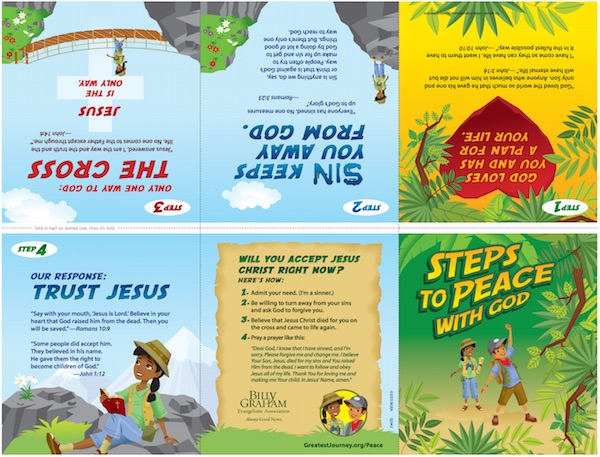 Free printable steps to piece tracts for kids