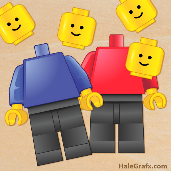 Pin the Head on the Minifigure Game