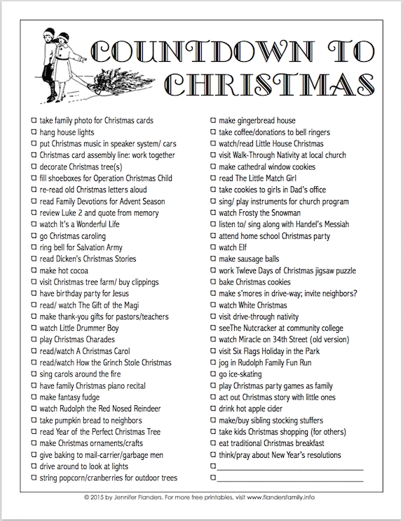 """Free printable """"Countdown to Christmas"""" from www.flandersfamily.info"""