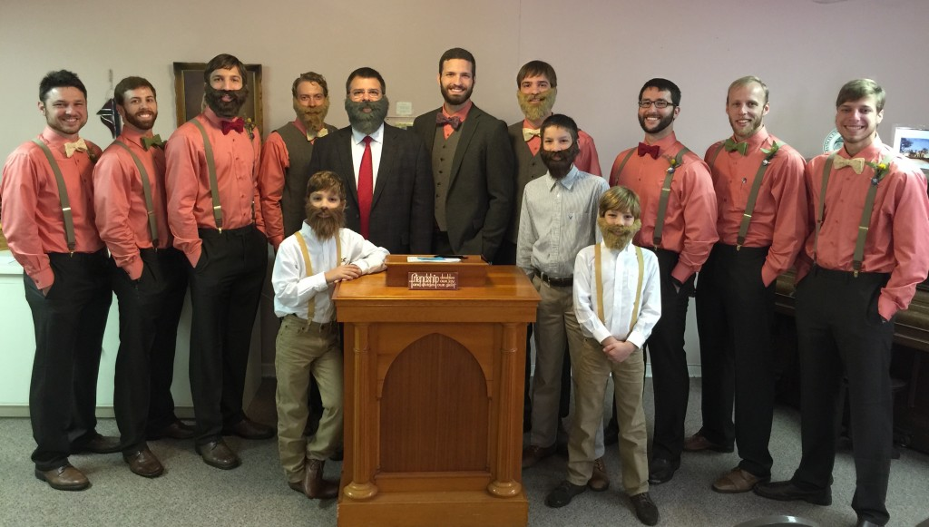 David with his Bearded Groomsmen