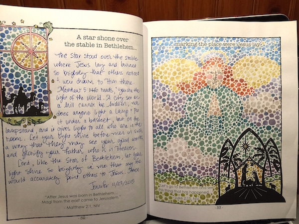 Sample artwork from my Advent journal...
