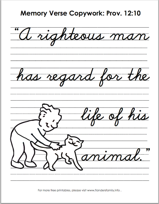 Free printable Bible memory flashcards from www.flandersfamily.info