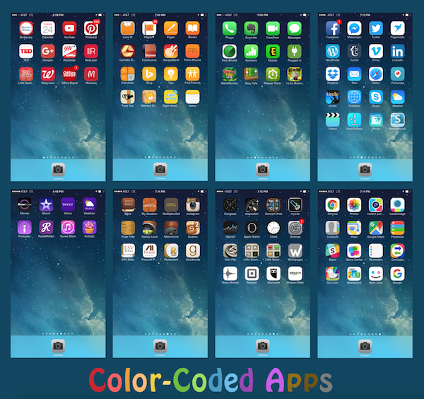 Color Coded Apps
