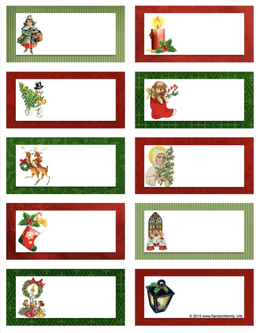 free printable activity cards for Christmas