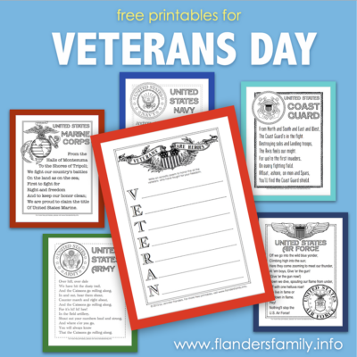 Free Veteran's Day Printables