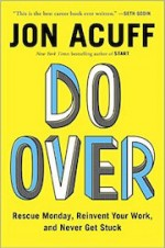 yellow color-coded bookshelves | Do Over by Jon Acuff