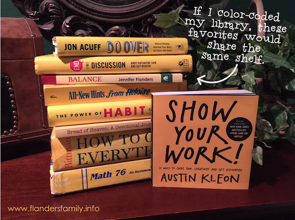 Color-Coded Bookshelves -- Yellow Favorites