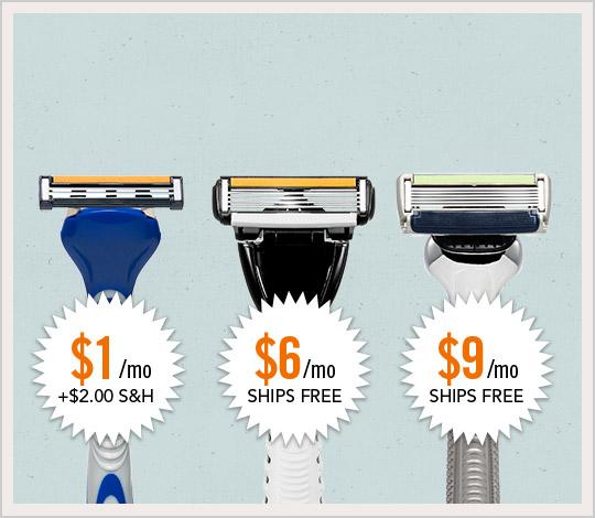 Dollar Shave Club prices