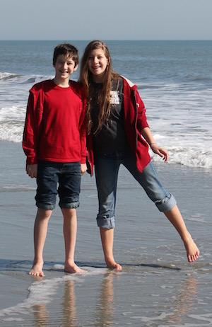 Isaac and Rachel in Myrtle Beach