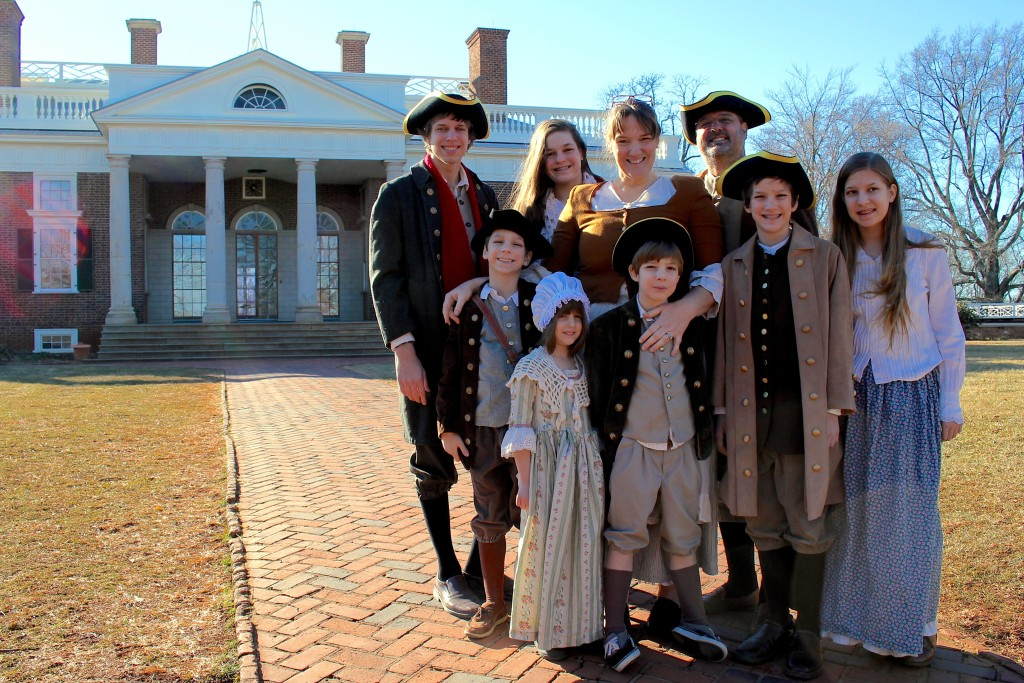 Visiting Jefferson's Monticello (in Colonial garb)