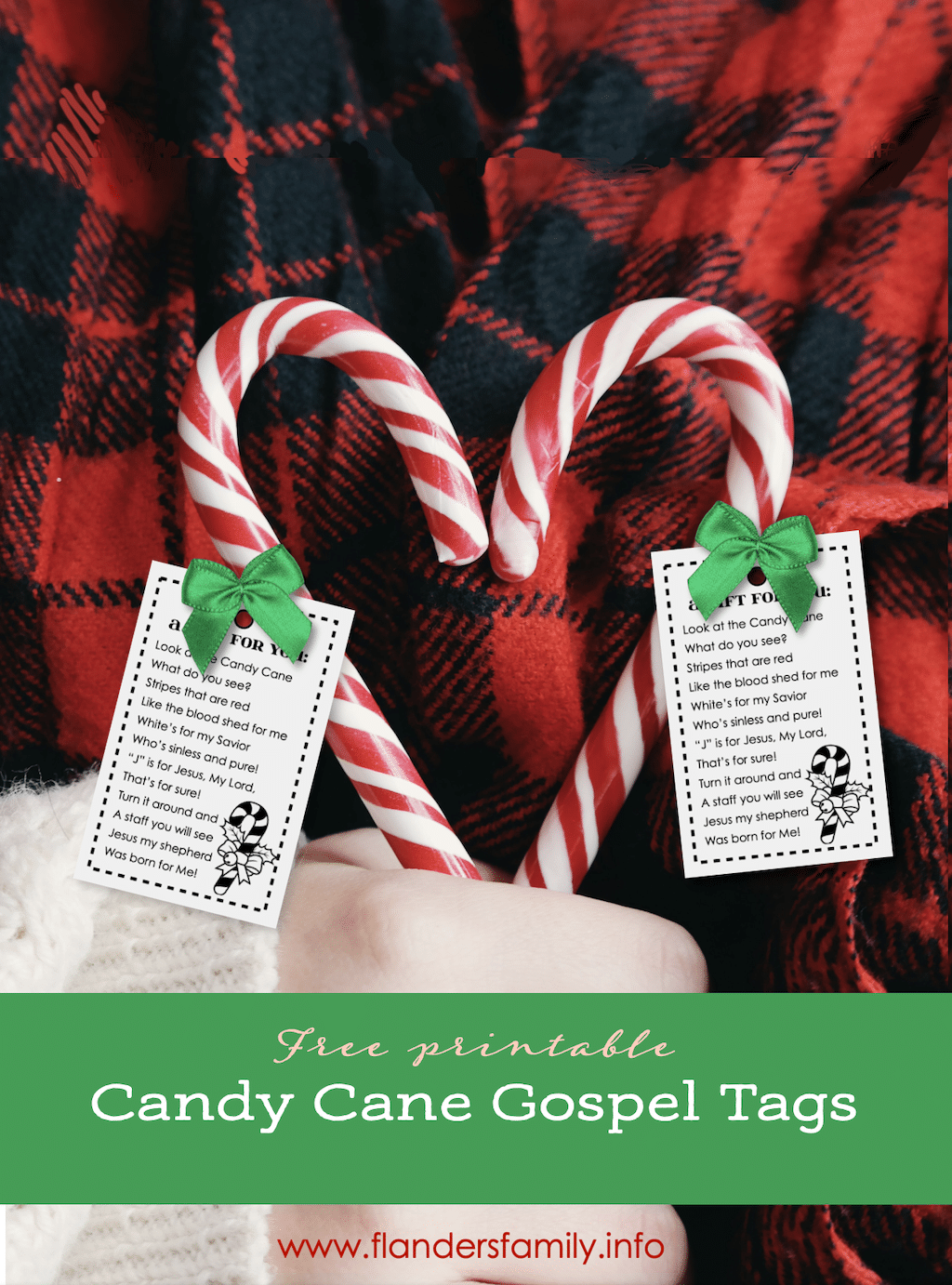 Candy Cane Gospel - Free Printable Tags