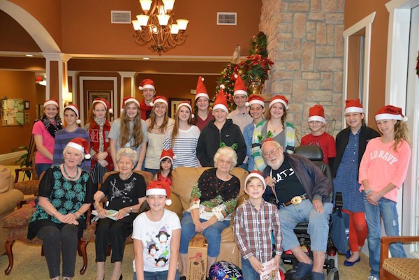Caroling for residents at Assisted Living Home
