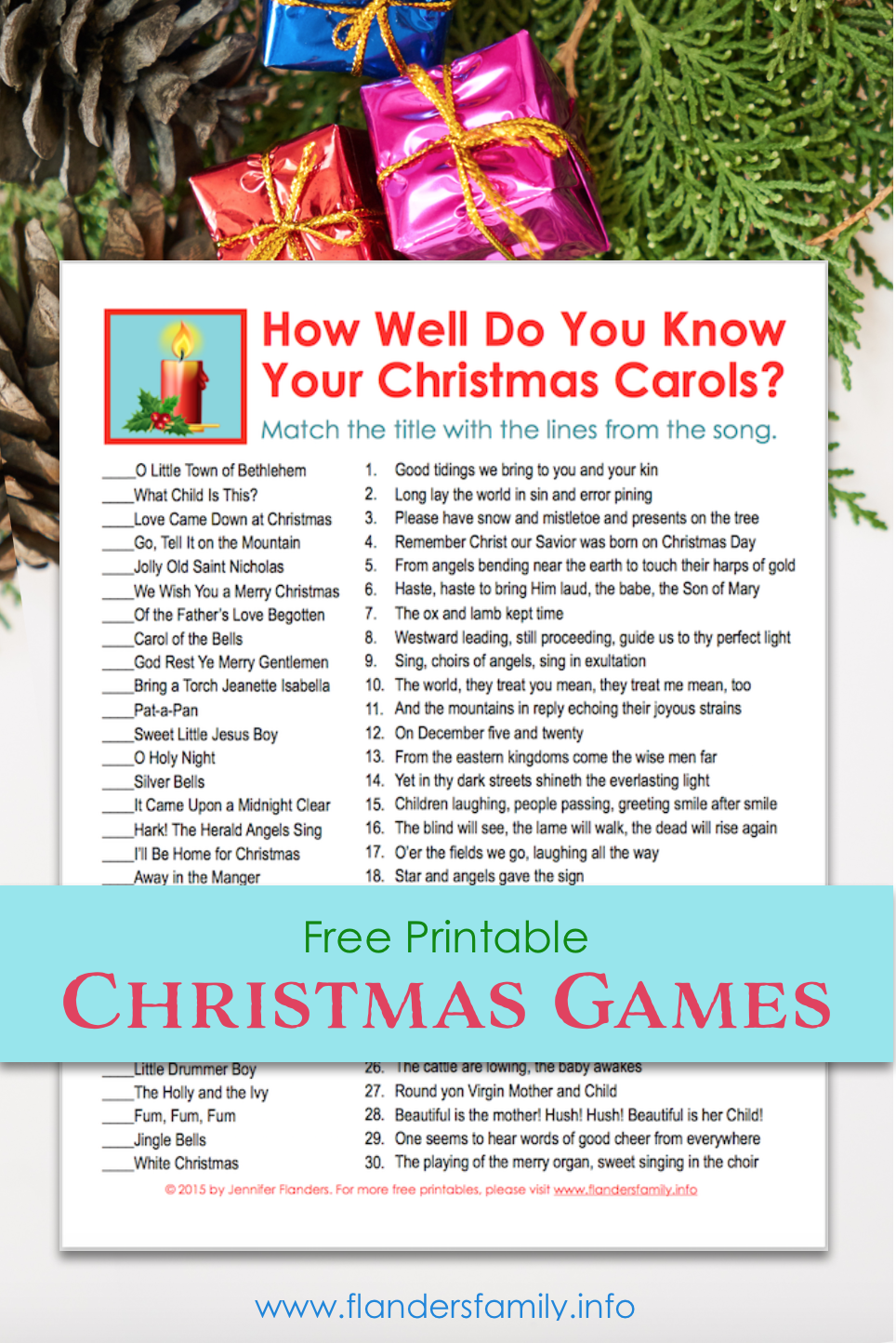 How Well Do You Know Your Christmas Carols Party Game