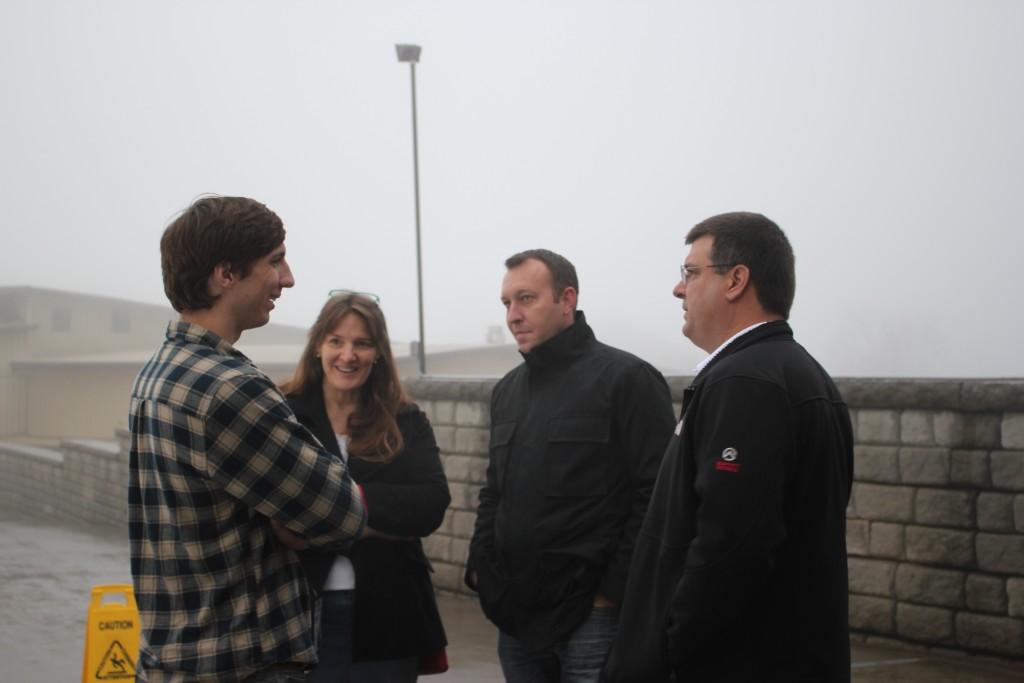 Talking with Adam May at Ober Gatlinburg