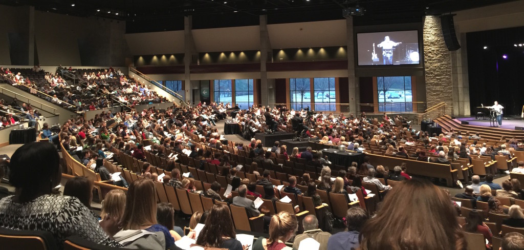 The Church at Brook Hills -- the entire congregations was taking sermon notes!