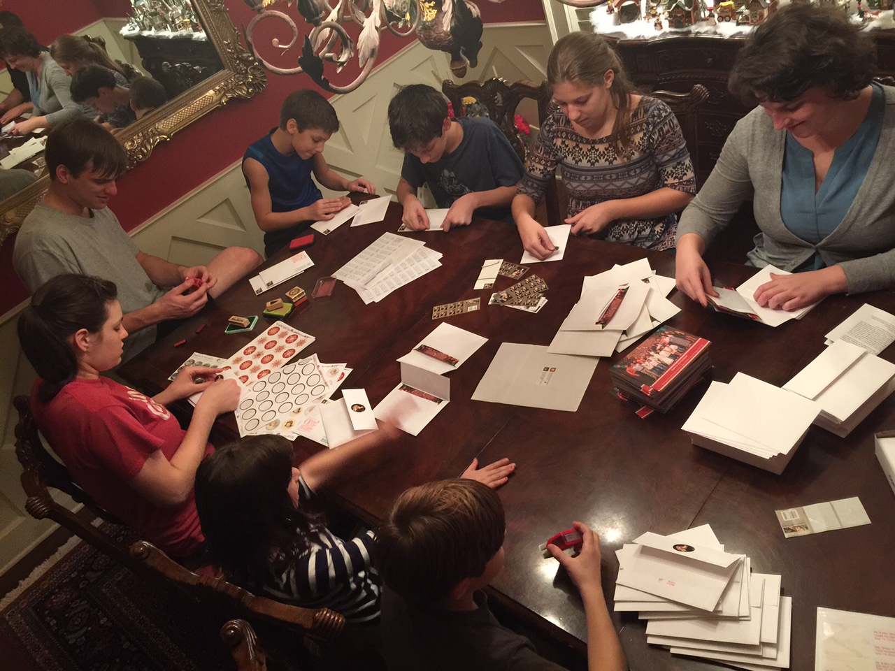 Christmas Card Assembly Line 1