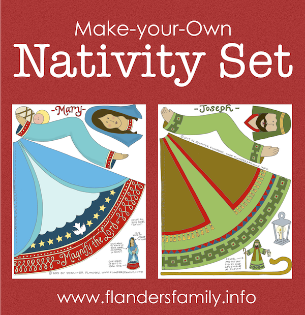 Nativity Paper Craft {Free Printable}