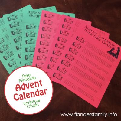 Advent Christmas Chain (Free Printable)