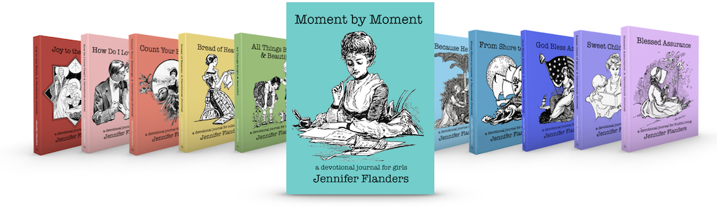 Moment by Moment (and other devotional journals by Jennifer Flanders)